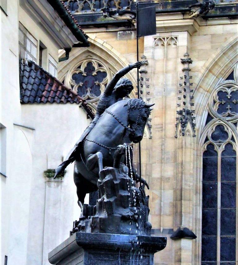 Фонтан святого Иржи Праги фото