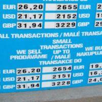 Где выгоднее всего менять деньги в Праге?