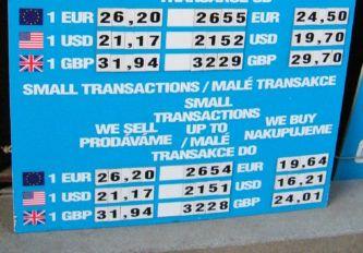 Где менять деньги в Праге
